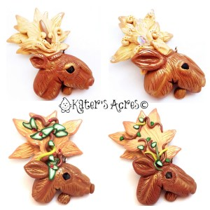 Polymer Clay Moose by Katie Oskin of KatersAcres