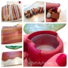 Make a Tree Trunk from Polymer Clay by KatersAcres