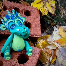 Forest the Dragon by Katie Oskin MUSEUM