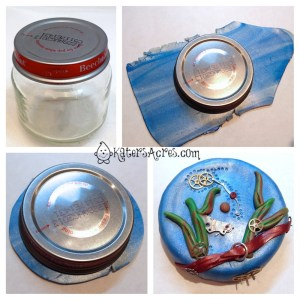 How to Cover a Jar Top by KatersAcres | A Mini-Tutorial in Conjunction with the Friesen Project of 2013
