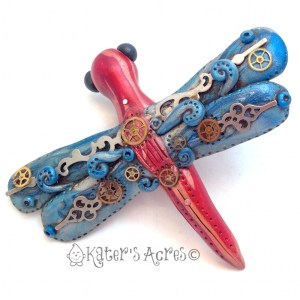 Steampunk Dragonfly Brooch by KatersAcres