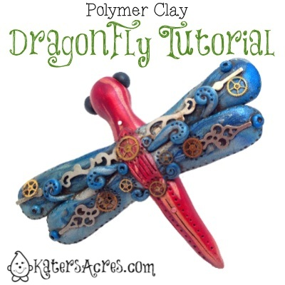 Polymer Clay Dragonfly Tutorial by KatersAcres