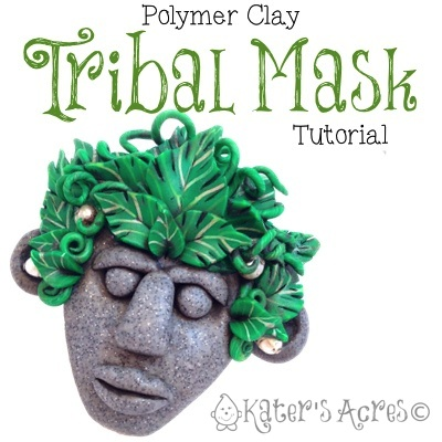 Polymer Clay Tribal Mask Tutorial by KatersAcres