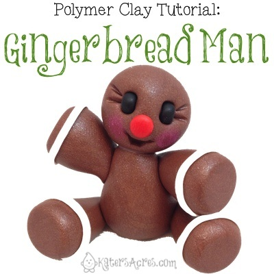 Gingerbread Man Tutorial by KatersAcres | Sculpting Mini-Tutorial for Polymer Clay, Fondant, & Other Sculpting Mediums
