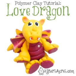 Love Dragon Polymer Clay Tutorial by KatersAcres