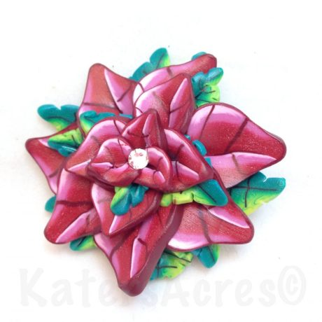 Caned Poinsettia Flower by Katie Oskin of KatersAcres