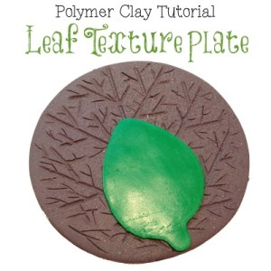 Polymer Clay Leaf Texture Plate Tutorial by KatersAcres