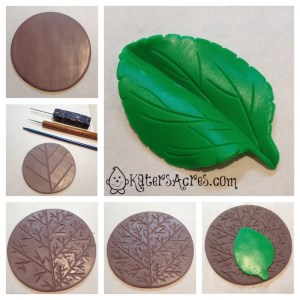 How to Make a Leaf Texture Plate from Polymer Clay Tutorial by KatersAcres