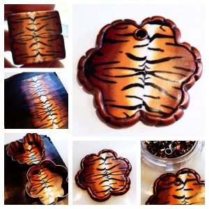 Tiger Print Heart Pendant Tutorial by KatersAcres