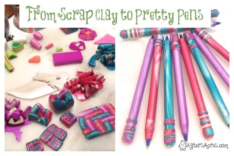 Polymer Clay Scraps to Gorgeous Pens by KatersAcres