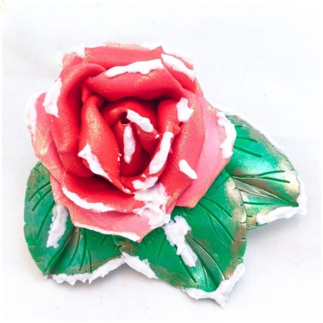 Polymer Clay Winter Rose by KatersAcres | Downloadable PDF project available