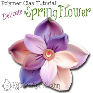 Spring Flower Pin Tutorial by KatersAcres | This tutorial can be used to make brooches, pendants, earrings, & more!