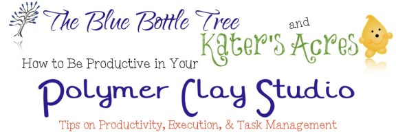 How to Be Productive in Your Polymer Clay Studio by KatersAcres