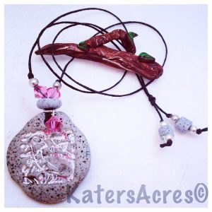 Polymer Clay Pendant Necklace | Made Using KatersAcres Ancient Artifact Pendant Tutorial