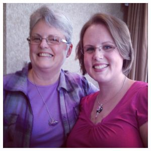 Katie Oskin of KatersAcres and her Mom, Diane Dillon