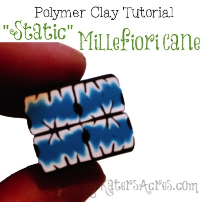 Polymer Clay Static Cane Tutorial by KatersAcres
