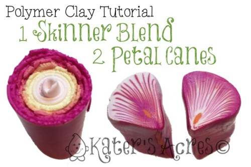 Polymer Clay Tutorial: 1 Skinner Blend 2 Petal Canes by KatersAcres