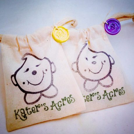 KatersAcres Packaging: Collectible bags with faux wax seals of authenticity