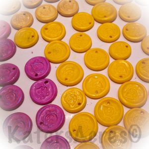 DIY Polymer Clay Faux Wax Seals Made Using Stamps by KatersAcres