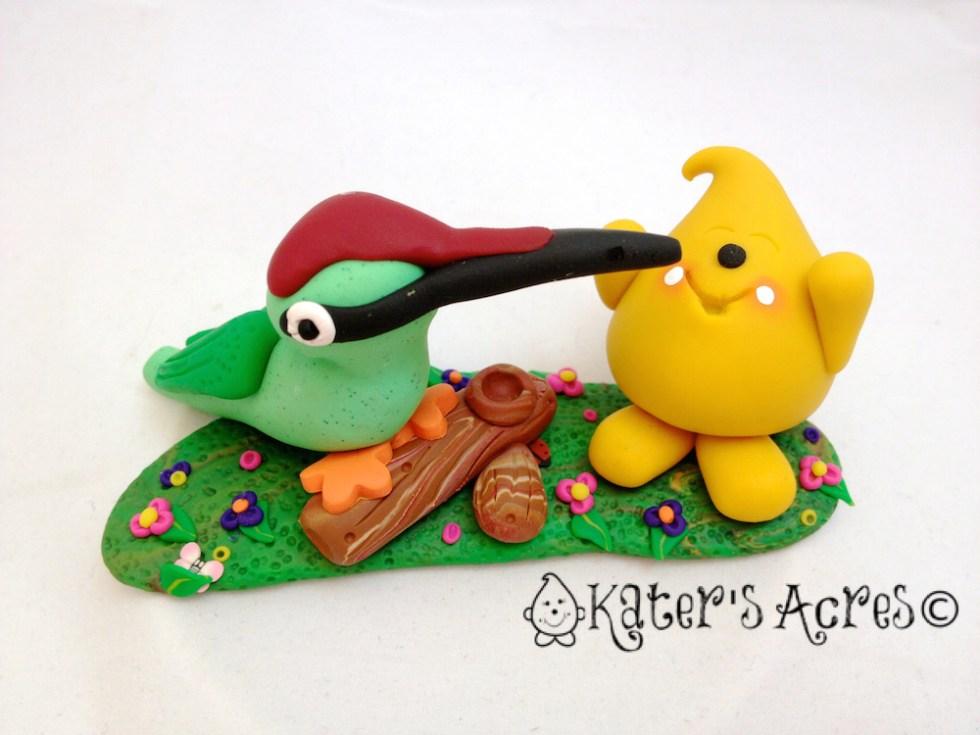 Parker & Mr. Woodpecker StoryBook Scene by KatersAcres