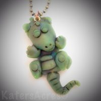 Faux Jade Dragon Pendant by KatersAcres | Faux Jade Color Recipe Available