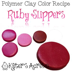Polymer Clay Color Recipe for Ruby Slippers by KatersAcres | Find Out How to Make This Unique Color