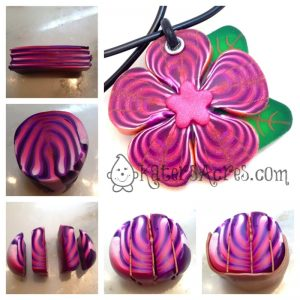 Striped Petal Cane Tutorial by KatersAcres