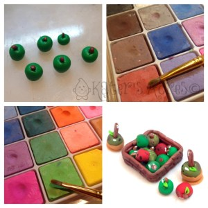 STEP 3: How to Make Miniature Polymer Clay Apples by KatersAcres