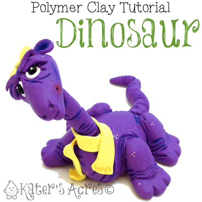 Polymer Clay Dinosaur Tutorial by KatersAcres