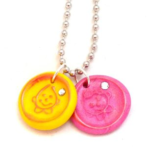 Faux Wax Seal Polymer Clay Jewelry by KatersAcres featuring Parker & Lolly