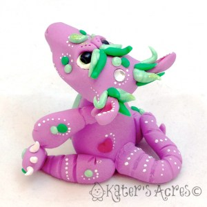 Polymer Clay Dragon LeVendieré by KatersAcres | Handmade polymer clay collectible