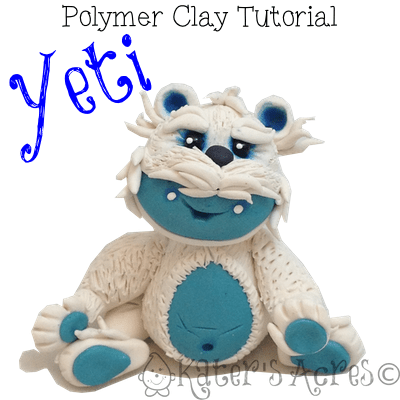 Polymer Clay Yeti Tutorial by KatersAcres
