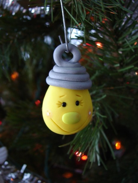 Christmas Ornament Light Bulb by KatersAcres