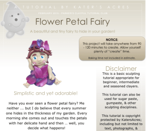 Polymer Clay Flower Petal Fairy Tutorial by KatersAcres PREVIEW