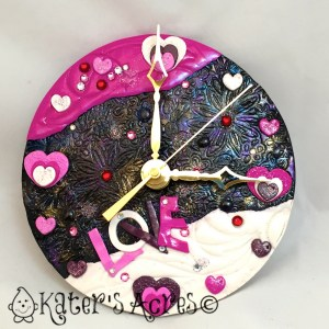 Polymer Clay Valentine's Day Clock by KatersAcres for the 2015 Pavelka Project