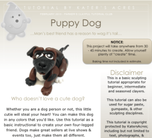 mer Clay Dog Tutorial PDF Preview by KatersAcres