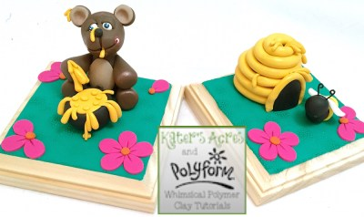 Polymer Clay Bookends Tutorial for Polyform