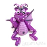Bugsy, Polymer Clay Collectible Dragon | Handmade in USA by KatersAcres