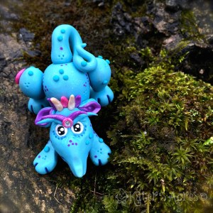 "Polymer Clay Dragon, ""Pupplett"" by KatersAcres 