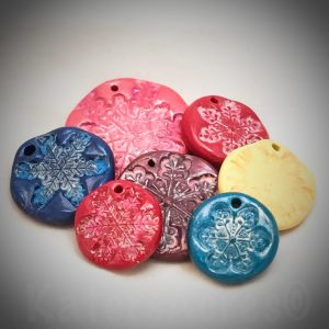 Polymer Clay Snowflake Ornaments by KatersAcres