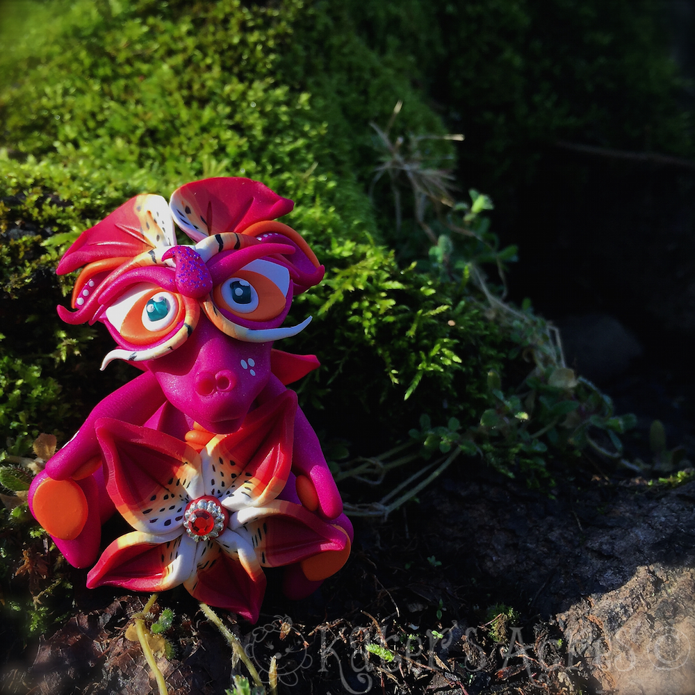 Polymer Clay Dragon Lily Millefiori Flower Dragon By Katers Acres