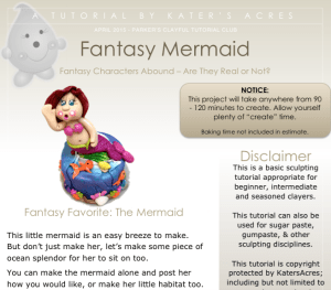 Polymer Clay Mermaid Tutorial PREVIEW