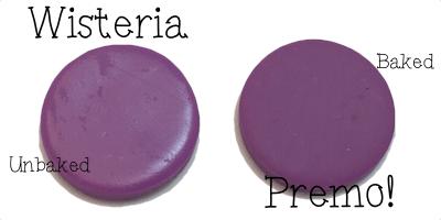 2015 Polyform Color Review - Premo Sculpey Polymer Clay in Wisteria