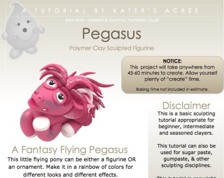 Polymer Clay Pegasus Tutorial PDF Preview by KatersAcres