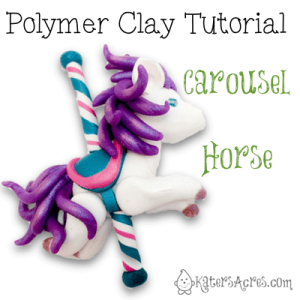 Polymer Clay Carousel Horse Tutorial by KatersAcres | This tutorial was sent to Members of Parker's Clayful Tutorial Club FREE | CLICK to join now.