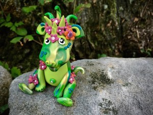 Polymer Clay Dragon SUMMER by Katie Oskin of KatersAcres