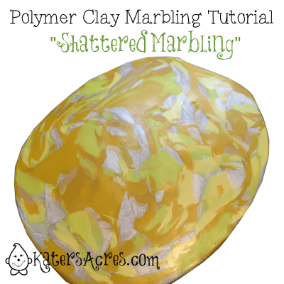 Polymer Clay Shattered Marbling Technique by Katie Oskin