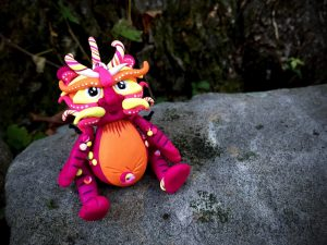 "Polymer Clay Dragon ""Bristol"" by Katie Oskin of KatersAcres, Ready for Adoption on Etsy"