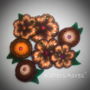 Polymer Clay Handmade Flowers by KatersAcres - CLICK for tutorial