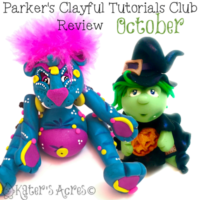 Parker's Clayful Tutorial Club - October 2015 Monthly Review | Click to see how you can save on PDF instant download whimsical tutorials